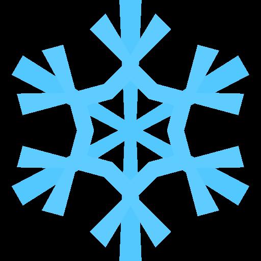 Blue snowflake clipart