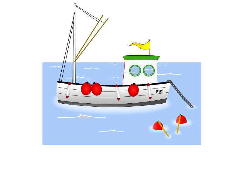 Boat fishing clip art