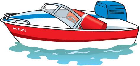 Boat laptop clip art