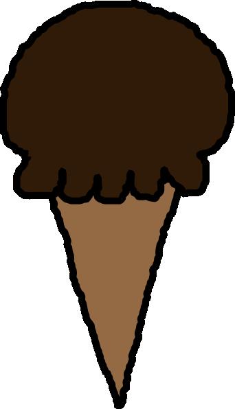 Chocolate ice cream clipart