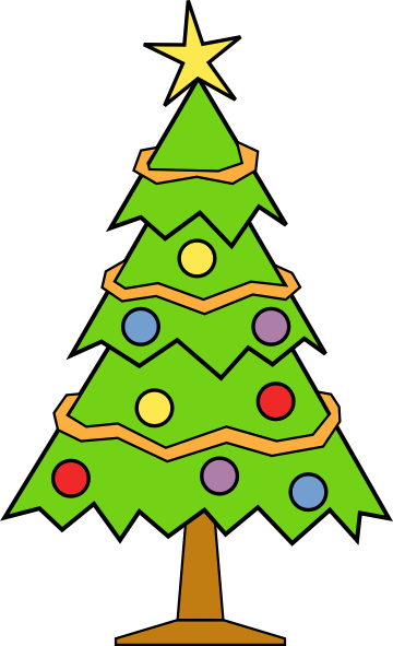 Christmas tree clip art  2