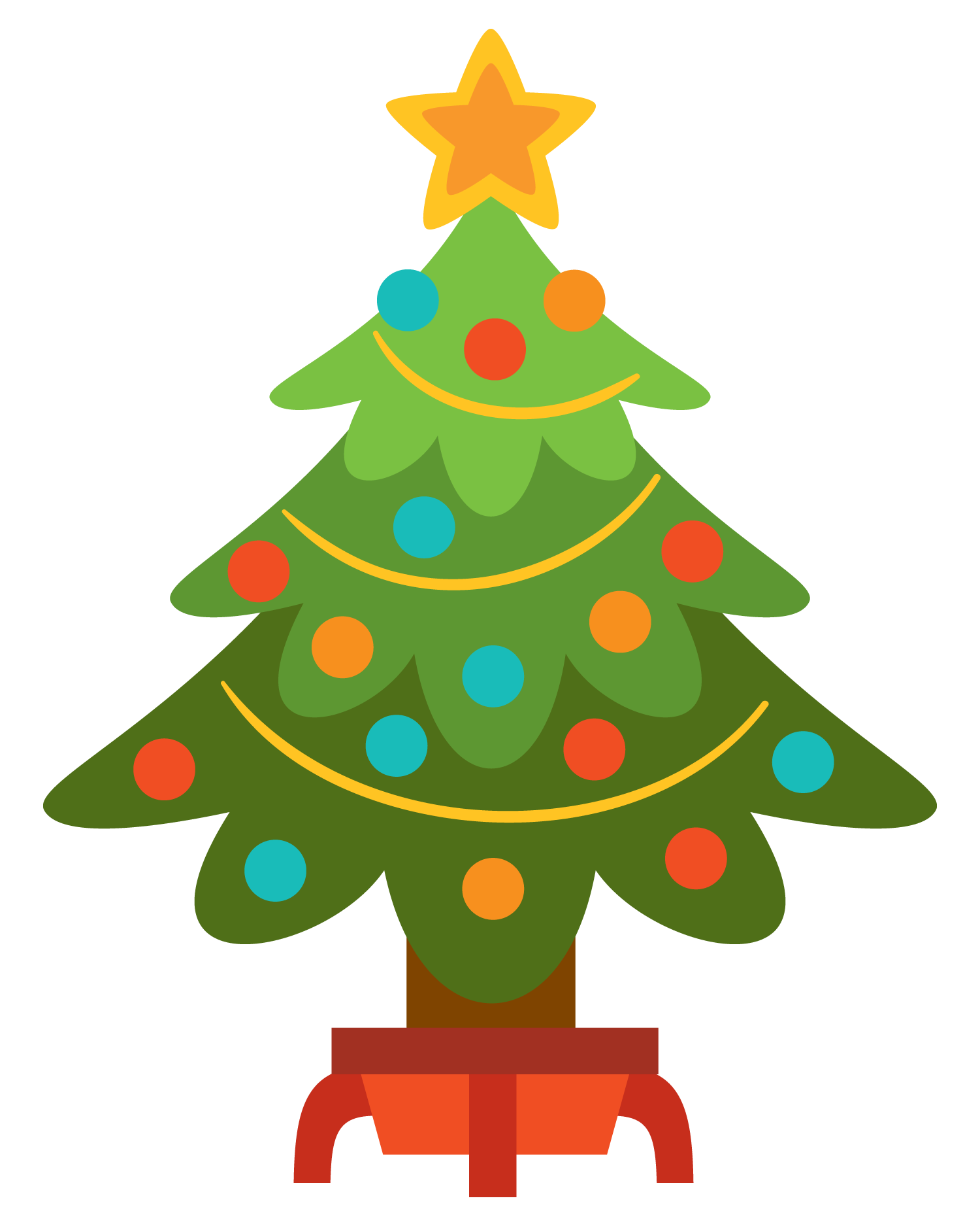 Christmas tree clip art  3