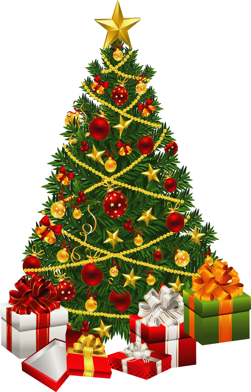 Christmas tree clipart with t es