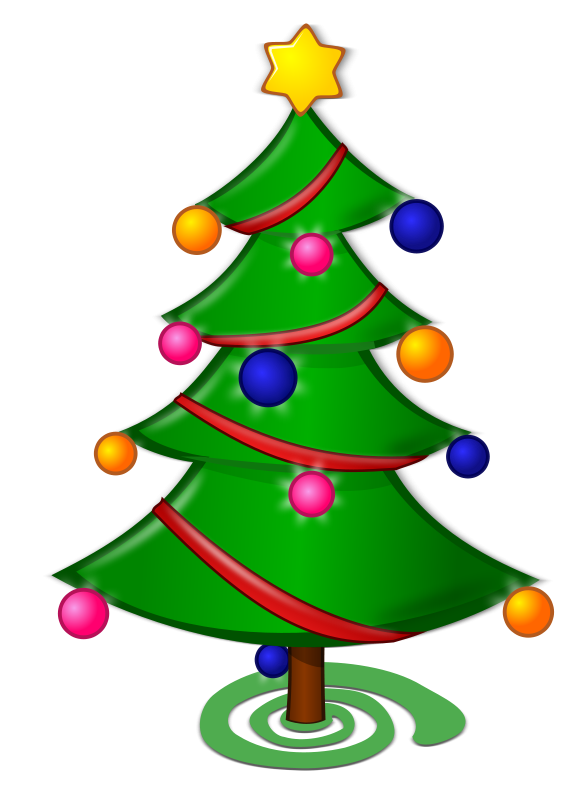 Christmas trees clip art christmas moment