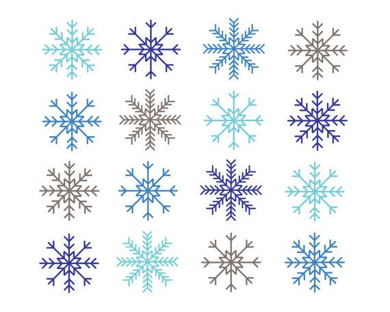 Clipart sale off snowflakes clipart digital design