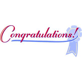 Congratulations clipart free