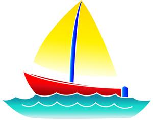 Cute boat clip art clipart