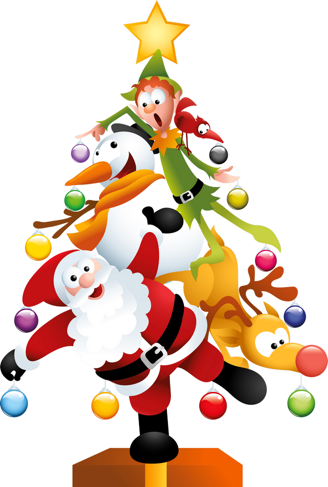 Funny transparent christmas tree clipart 0