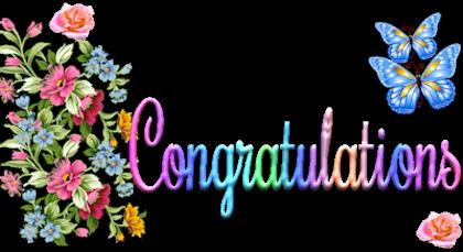 Glitter graphics congratulations clipart image #9679