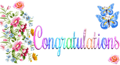 Glitter graphics congratulations clipart