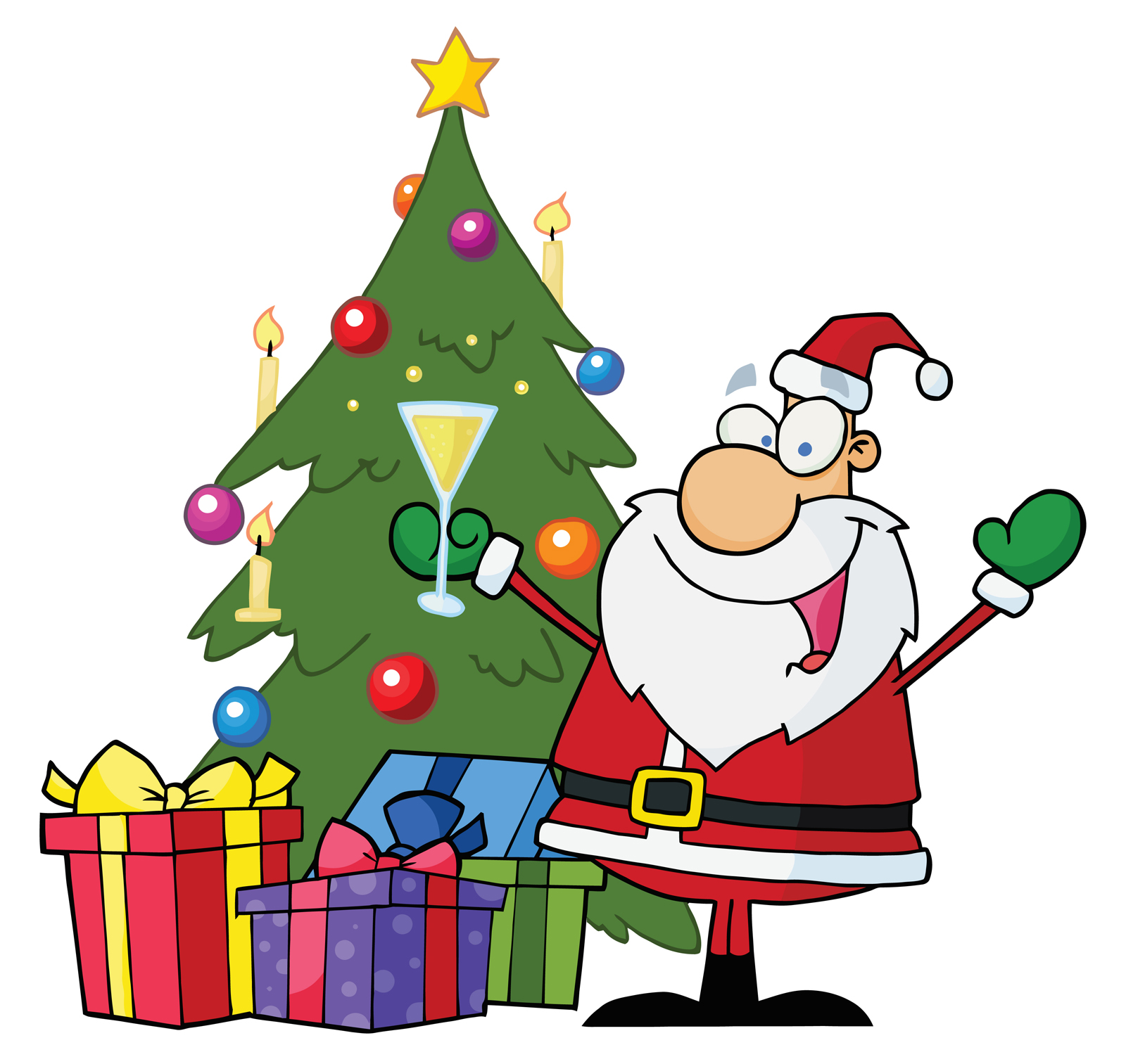 Happy christmas tree clipart carfts wishes greetings