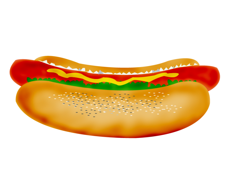 Hot dog clipart 6