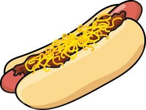 Hot dog clipart image tasty chili cheese dog hot dog on a bun