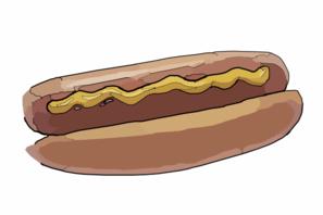 Hot dog sandwich clip art at vector clip art online
