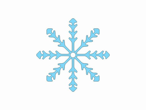 More free snowflake clip art powerpoint template 2