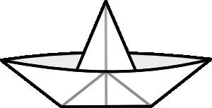 Paper boat clip art at vector clip art online royalty