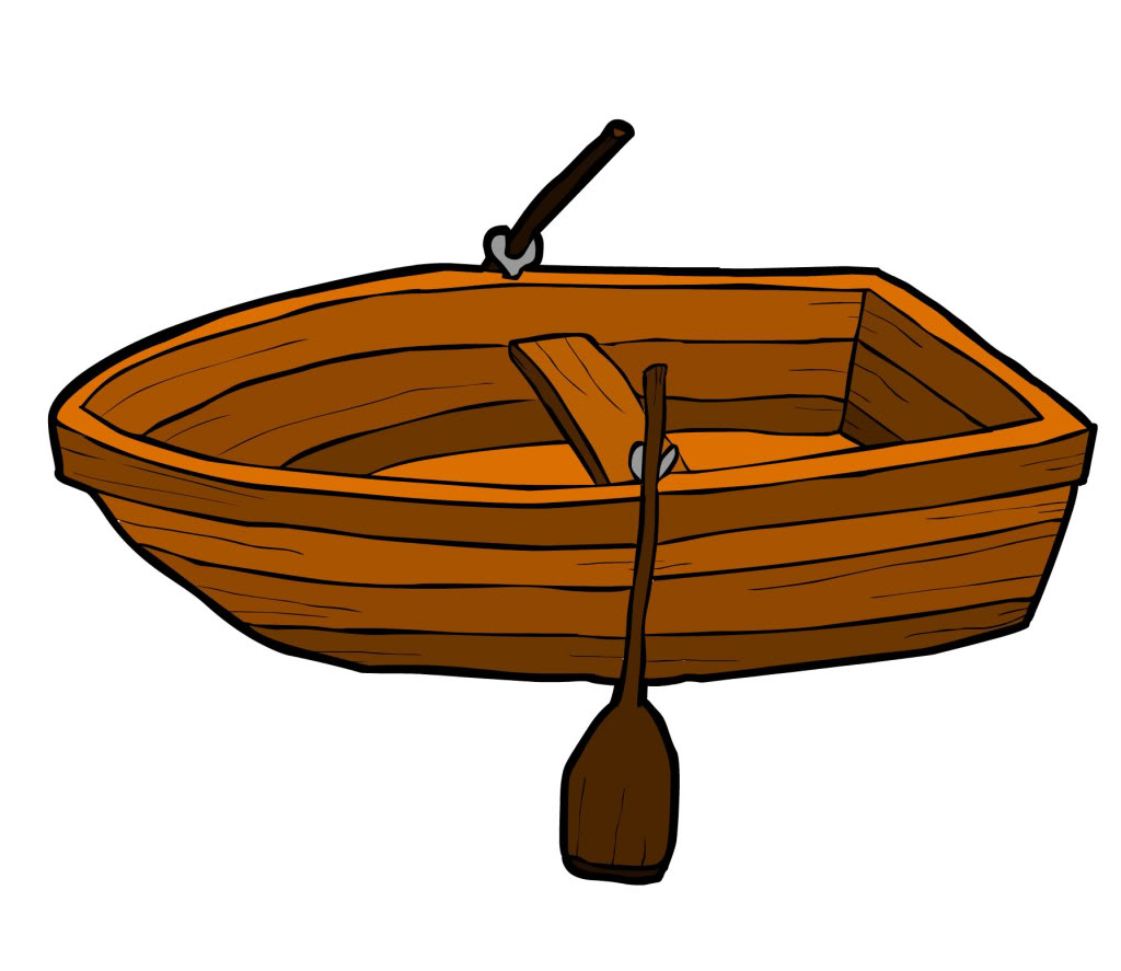 Row boat clipart