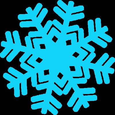 Snowflake blue clipart