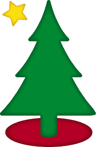 Top christmas tree clip art nice photo and vector