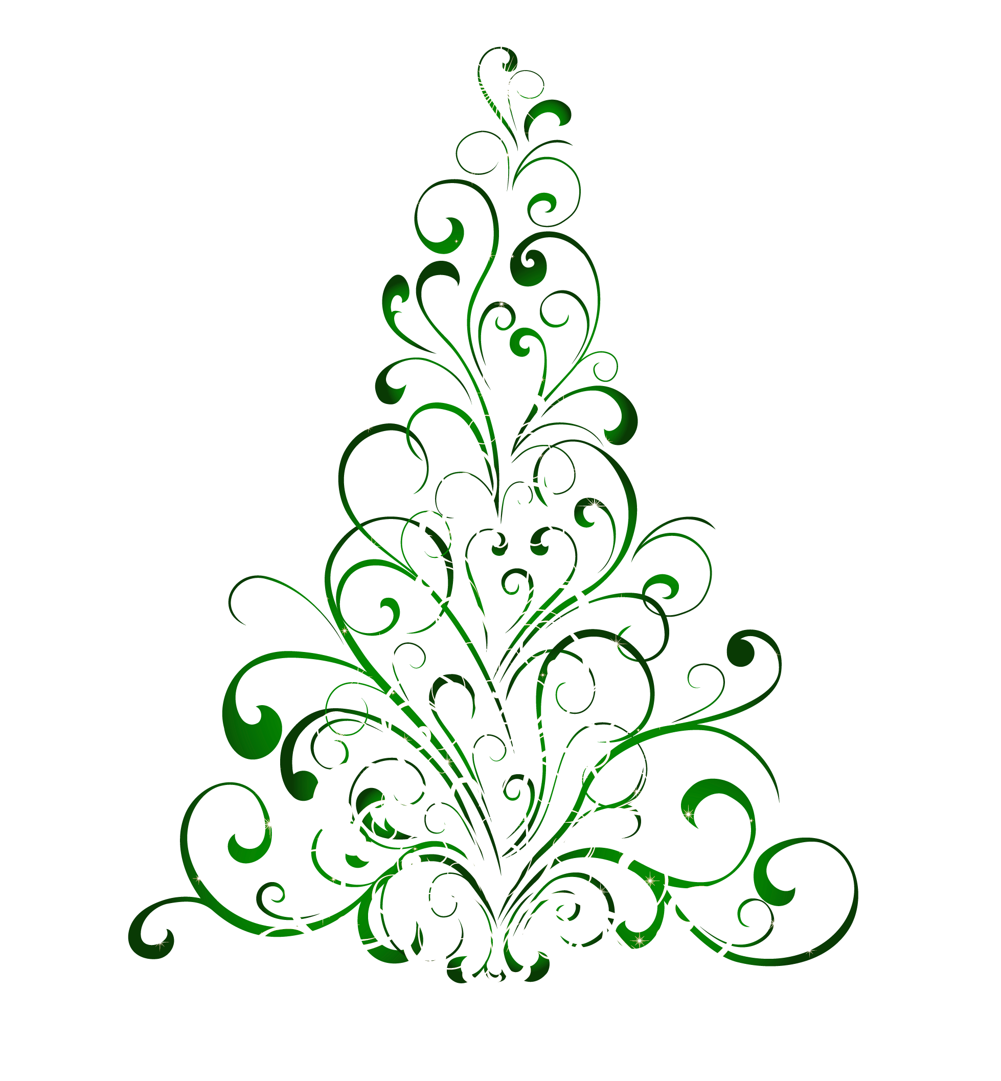 Transparent green christmas tree clipart 0