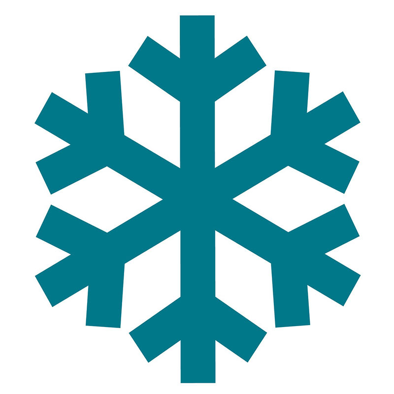 White snowflake clip art graphics collections 2
