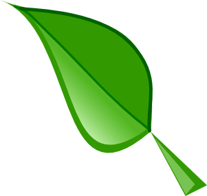 Clip art of a leaf
