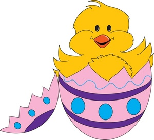 Easter clipart image clip art illustration of a cute baby