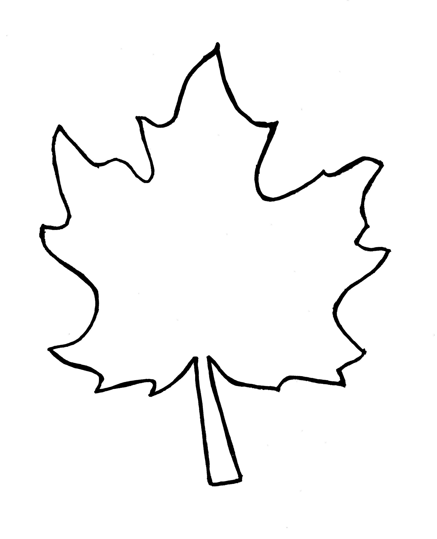 Leaf outline 1 clip art