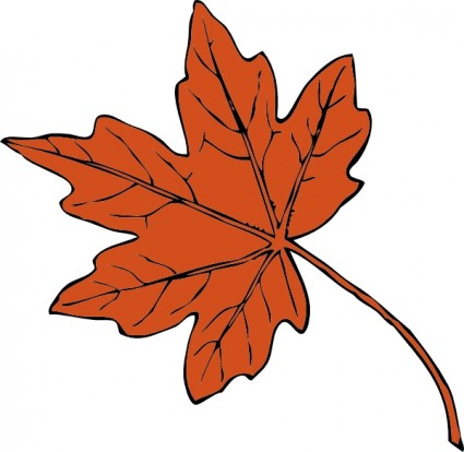 Maple leaf clip art free vector in open office drawing svg svg