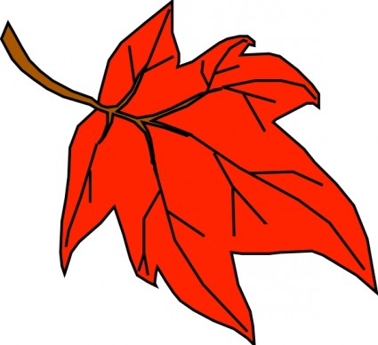 Orange leaf clip art free vector in open office drawing svg svg