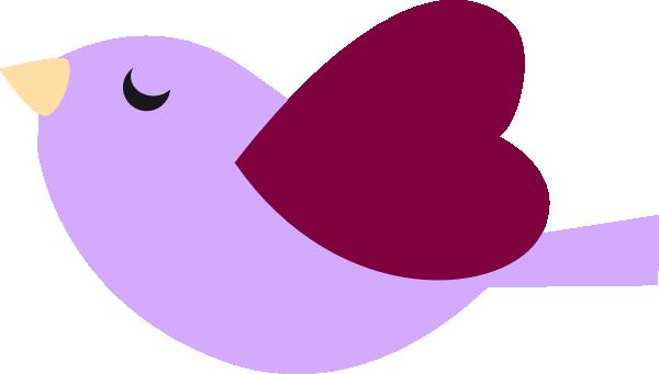 Purple bird clip art at vector clip art online