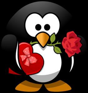 Valentine penguin clip art at vector clip art online