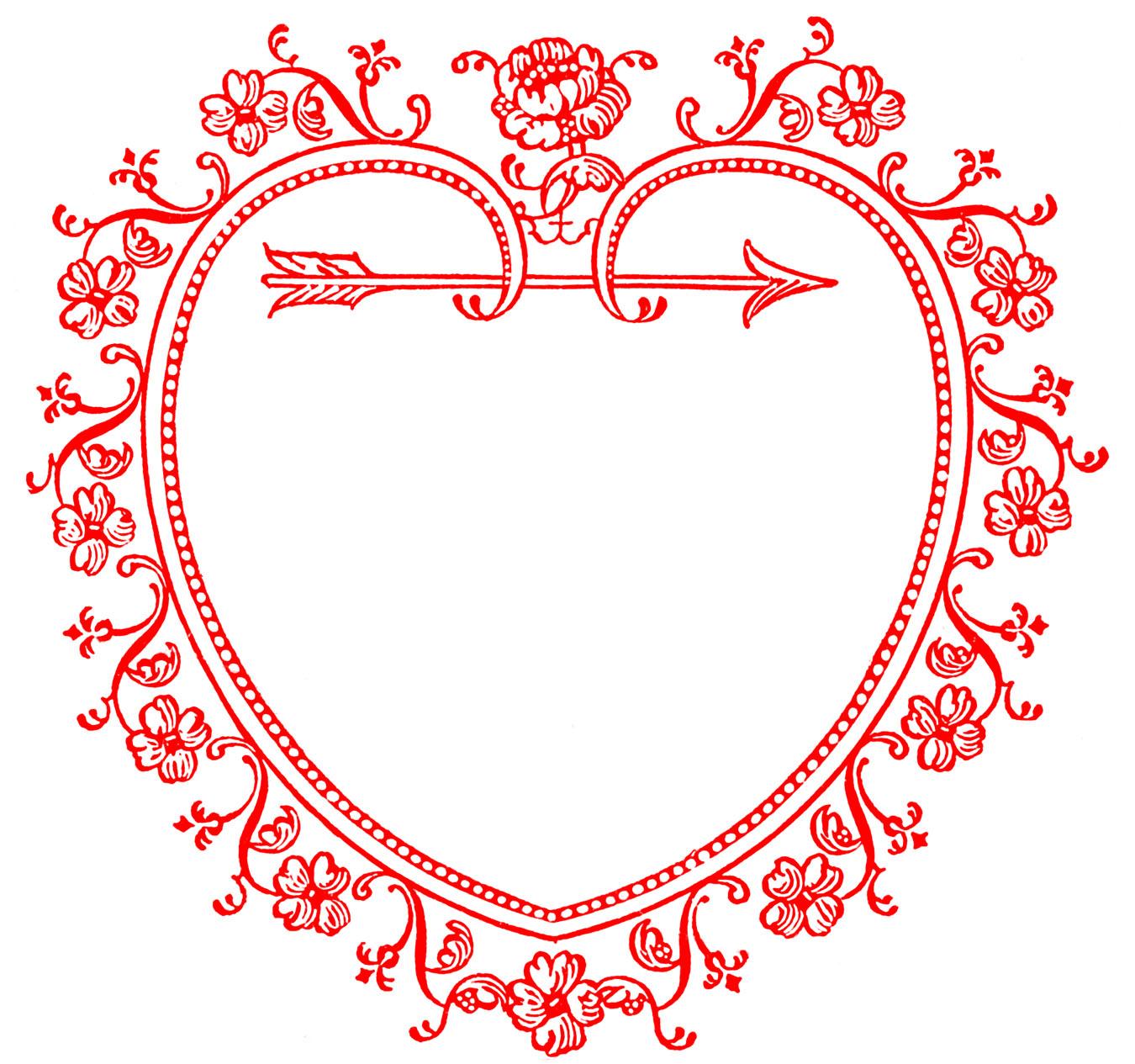 Valentines day vintage valentine clip art