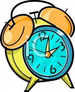 Bell alarm clock clipart