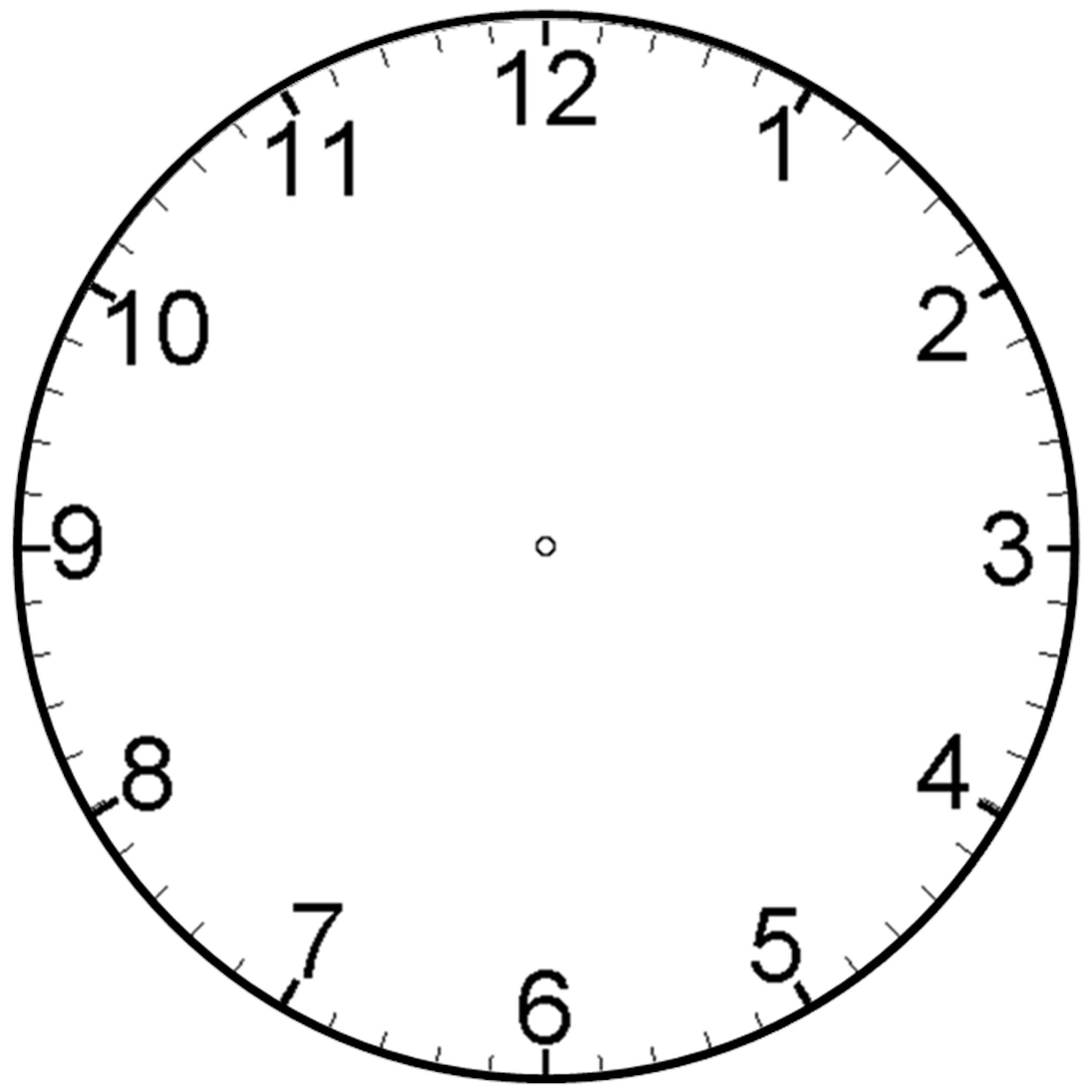 Blank analog clock clip art clipart