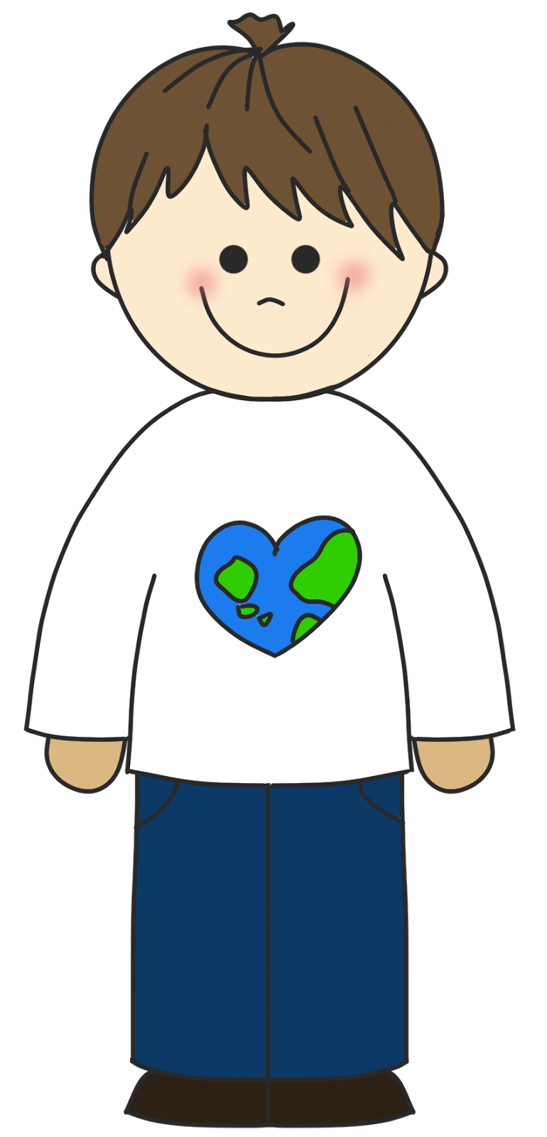 Face of a child boy clipart clipart image #11314