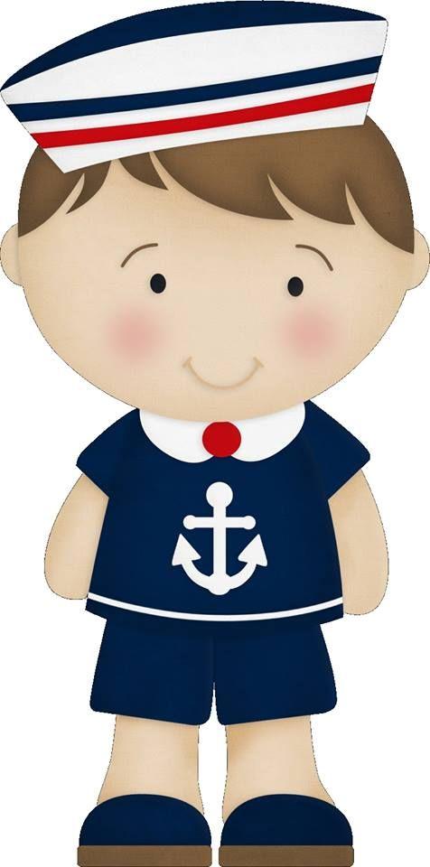 Boy menino marinheiro azul vermelho kit completo com molduras para clipart