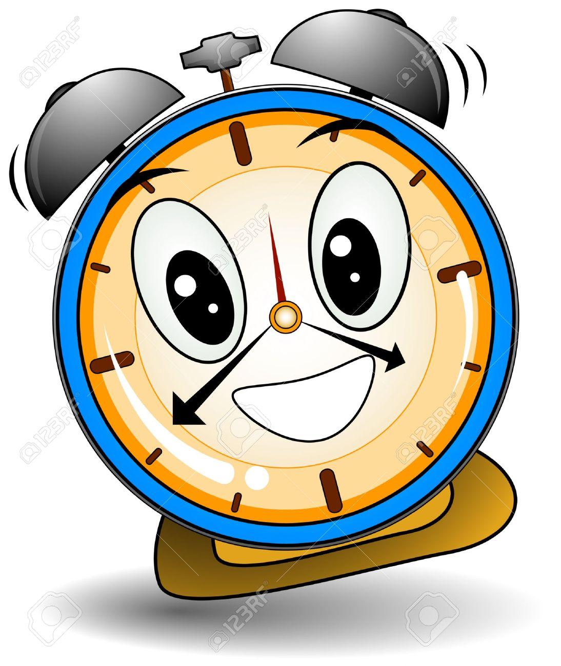 Cartoon alarm clock clipart