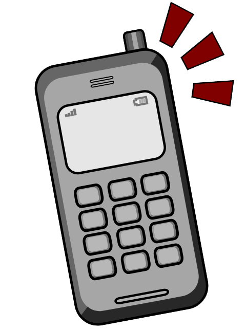 Clipart mobile phone clipart