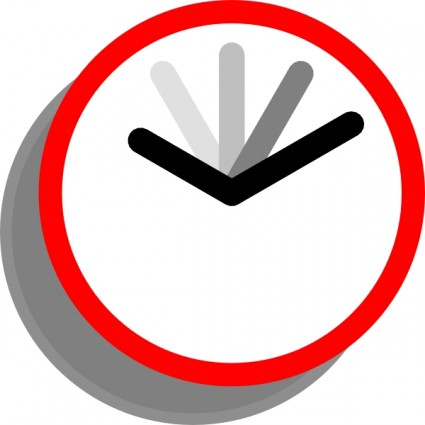 Clock clip art free vector in open office drawing svg svg 2