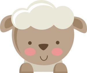 Cute baby sheep clipart