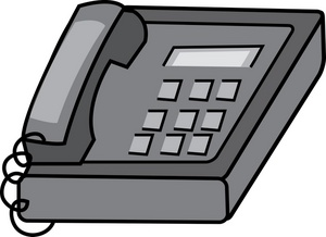 Desk phone clipart image desk phone in an office