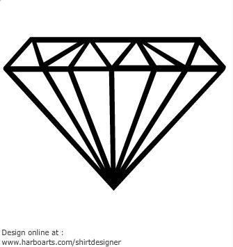 Diamond outline clip art clipart