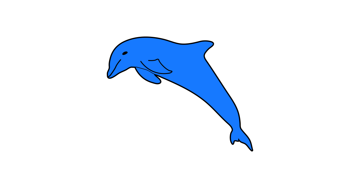 Dolphin clipart vector and free download the graphic cave