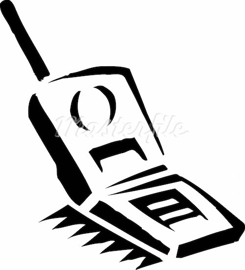 Flip phone clip art