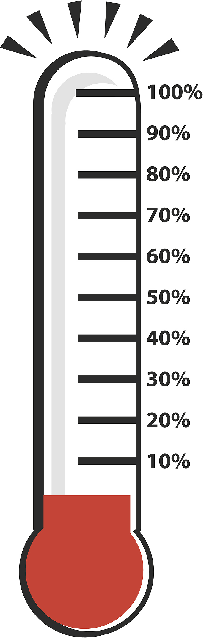 Fundraising thermometer clip art free clipart