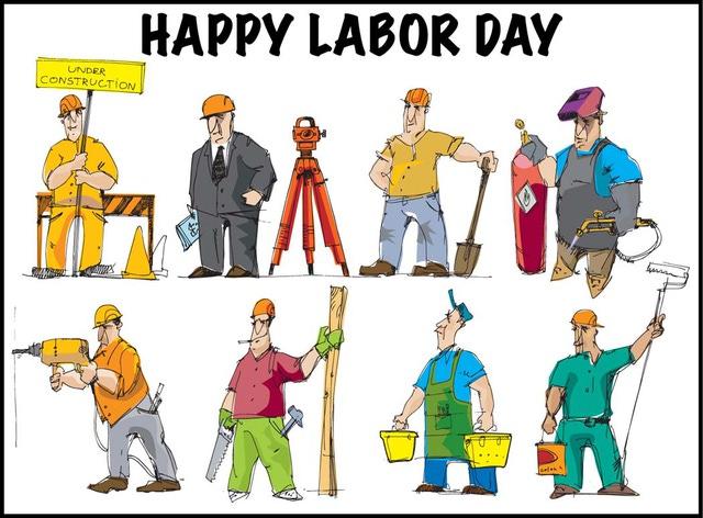 Happy labor day clipart