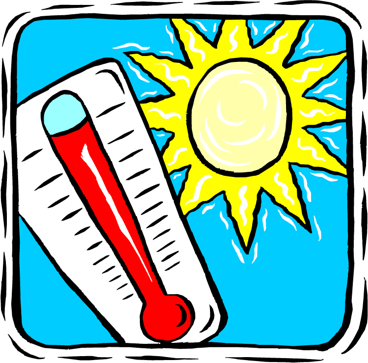 Hot and cold thermometer clip art free clipart