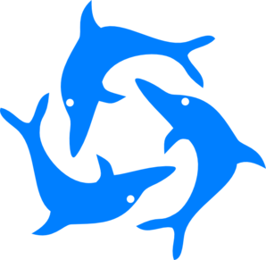 Jumping dolphins clip art at vector clip art online