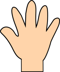 Human hand outline clip art free vector for free download about 6 ...